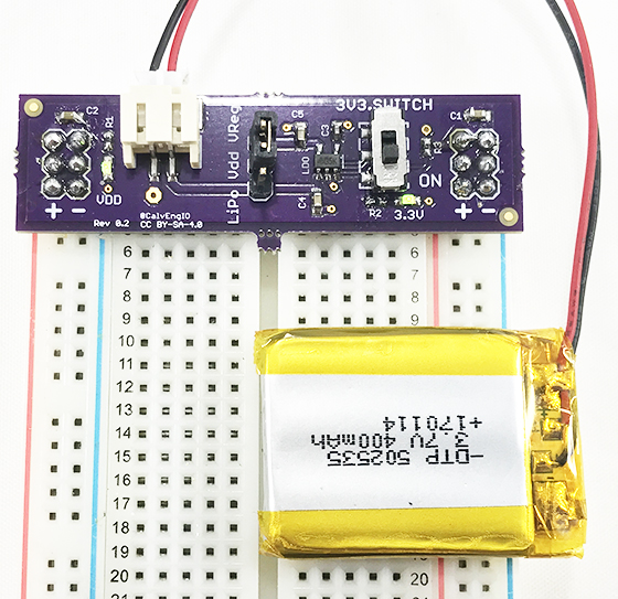 Image of LiPo Battery Breadboard Power Supply