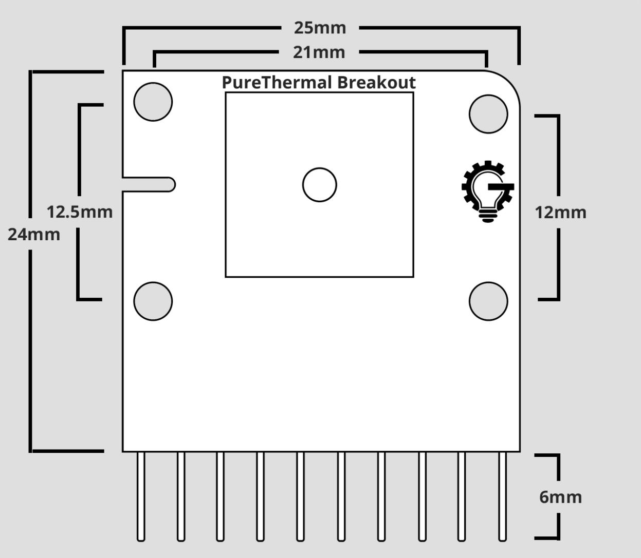 PureThermal Breakout Board Dimensions