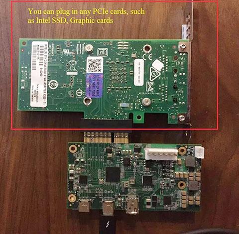 Thunderbolt 3 Bridge Board- PCIe 3 Gen 3 x4 extender | GroupGets