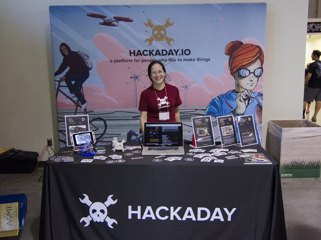 SoCal MakerCon hackaday table