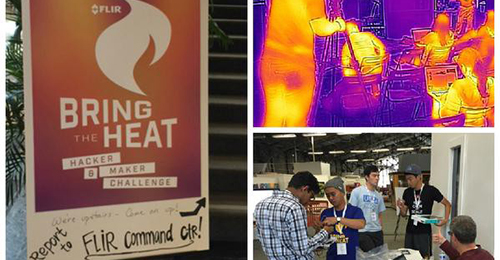 Several images from the FLIR hackathon