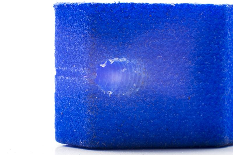 Close up image of threaded hole