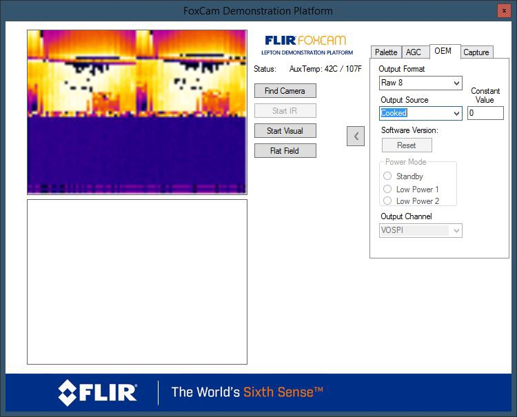 Foxcam software with thermal image
