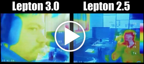 DIY-Thermocam Lepton 2.5 & 3.0 Comparison